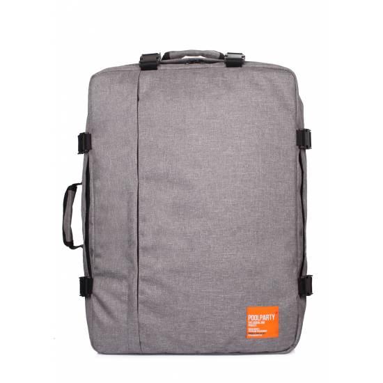 Рюкзак-сумка серого цвета для ручной клади