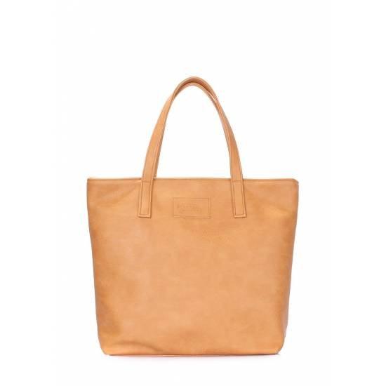 Коричневая сумка из искусственной кожи