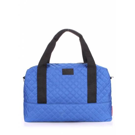 Стеганая сумка синего цвета