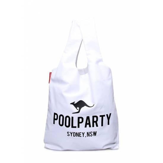 Коттоновая сумка белого цвета