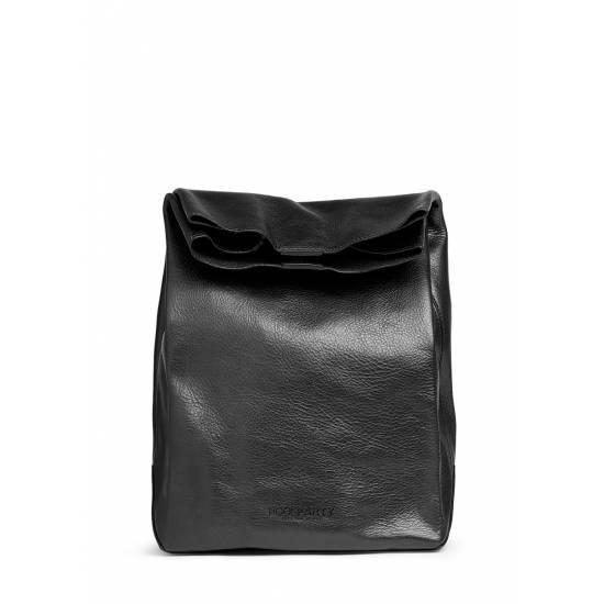 Кожаная сумка-клатч черного цвета