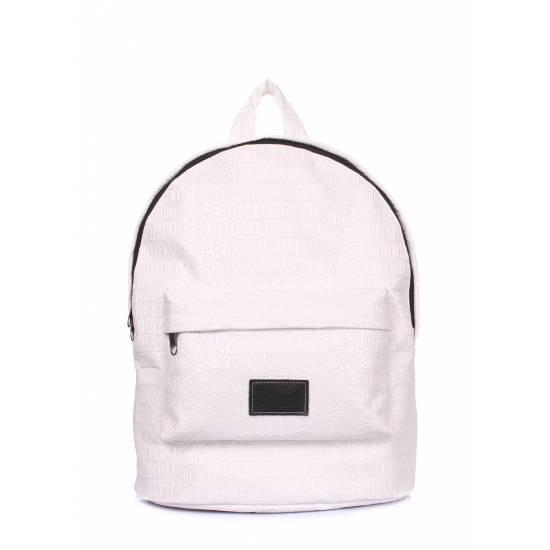 Белый рюкзак с тиснением