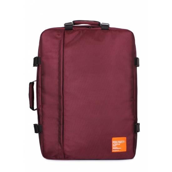 Рюкзак-сумка бордового цвета для ручной клади