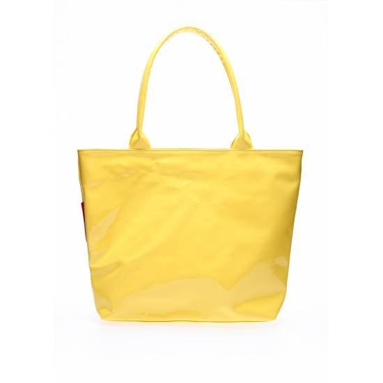 Лаковая сумка желтого цвета