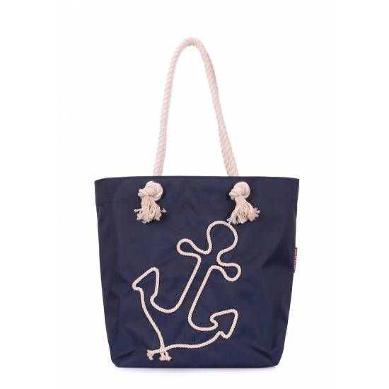 Летняя сумка синего цвета с якорем