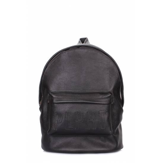 Кожаный рюкзак черного цвета