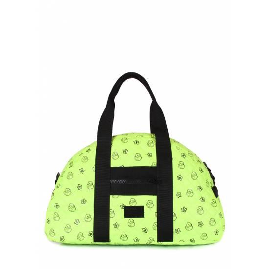 Стеганая сумка салатового цвета