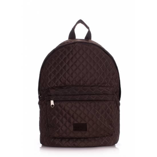 Стеганый рюкзак коричневого цвета