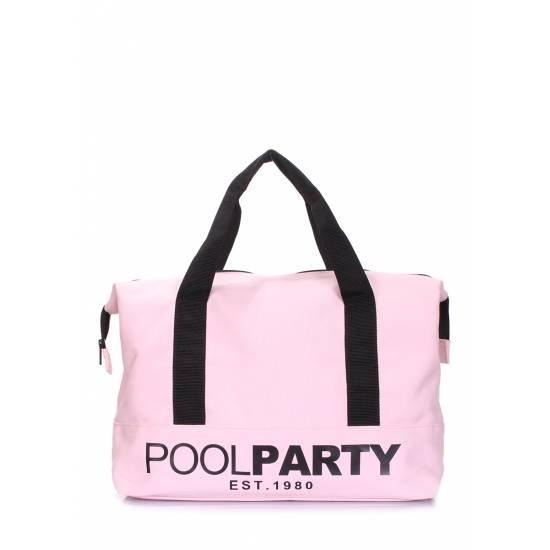 Коттоновая сумка розового цвета