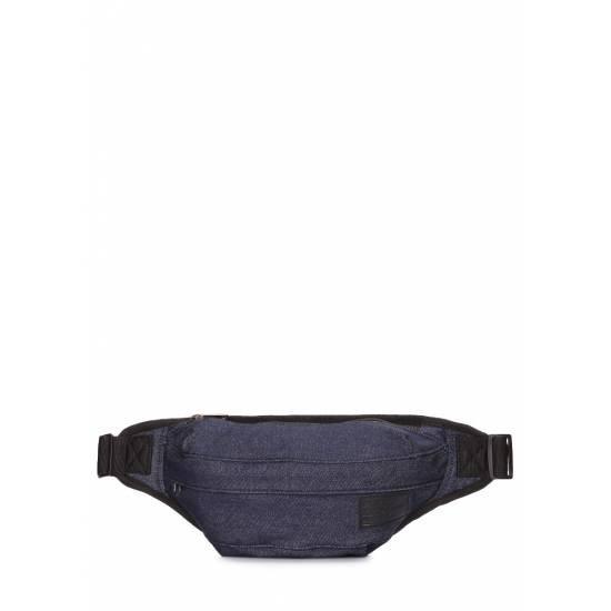 Джинсовая сумка синего цвета на пояс