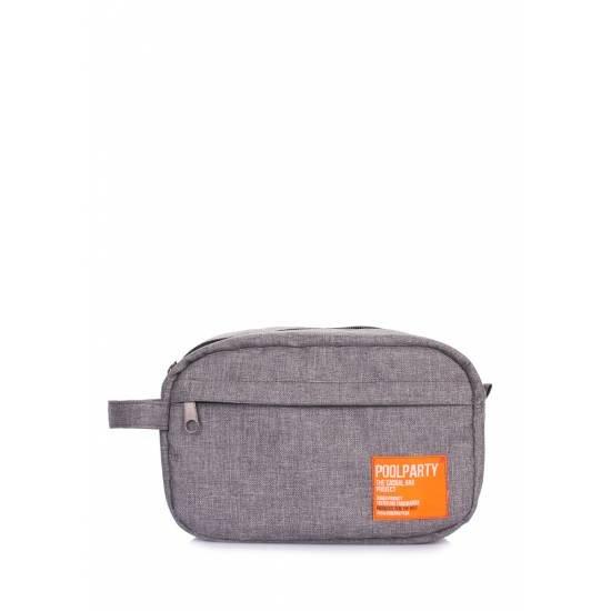 Дорожная сумка-тревелкейс серого цвета