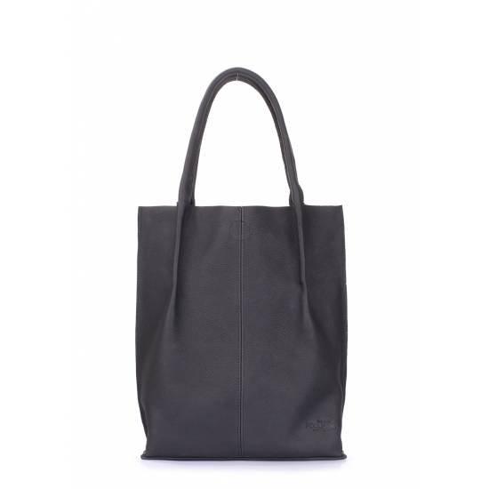 Женская кожаная сумка черного цвета