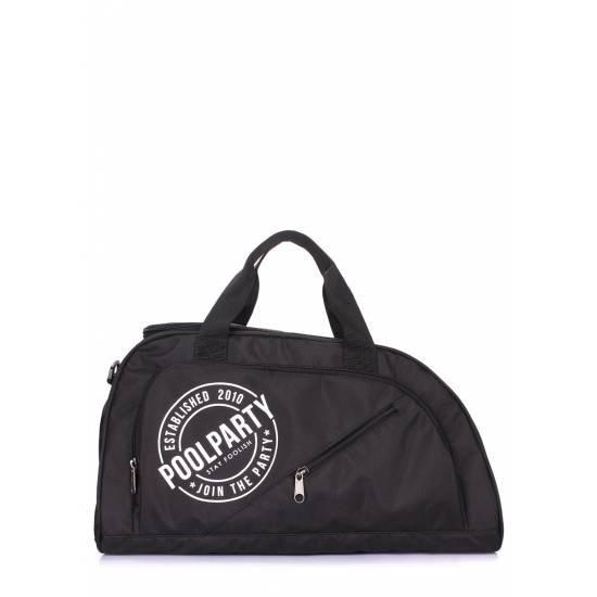 Спортивная сумка черного цвета