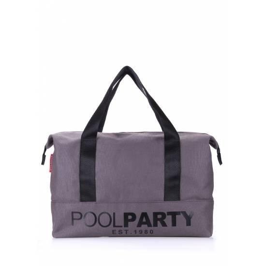 Коттоновая сумка серого цвета