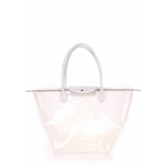 Прозрачная сумка белого цвета