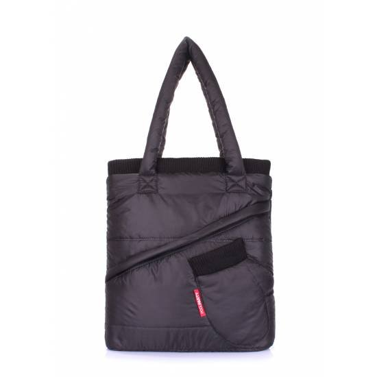 Стеганая сумка черного цвета с рукавичкой