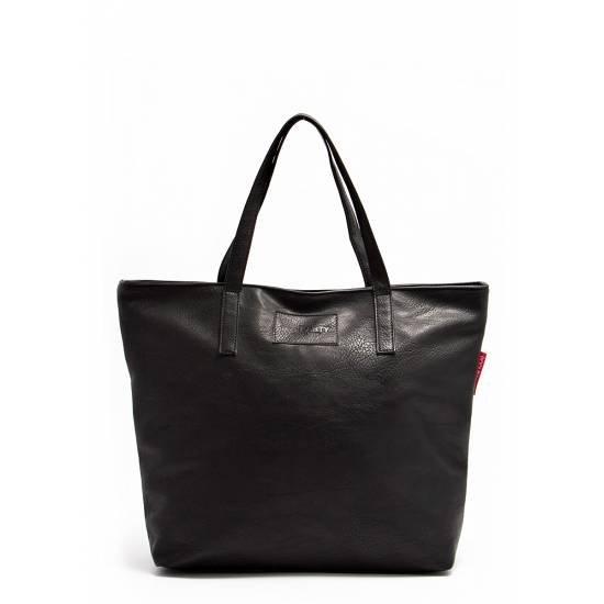 Черная сумка с одним отделением икарманом