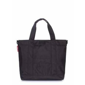 Черная сумка с мягкими ручками