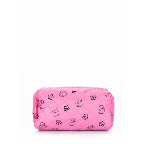 Розовая косметичкас рисунком