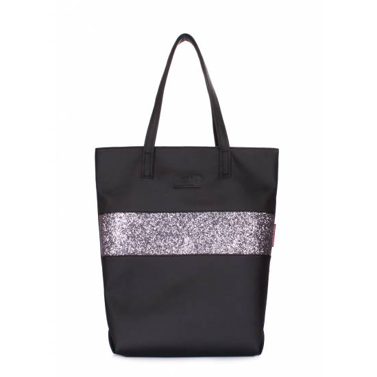 Черная сумка с одним отделением и внутренним карманом