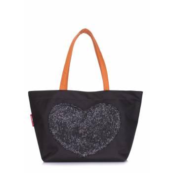 Черная сумка с глиттером