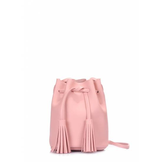Розовая сумка на завязках