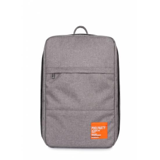 Серый рюкзак для ручной клади