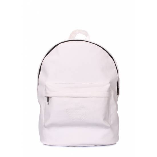 Белый рюкзак из искусственной кожи