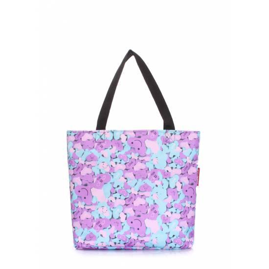 Женская повседневная сумка сиреневого цвета