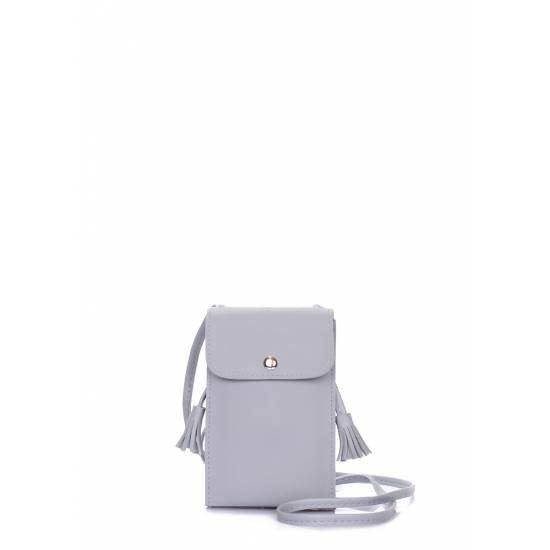 Серая сумочка-планшет на плечо