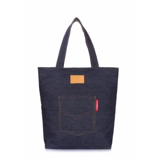 Джинсовая сумка синего цвета