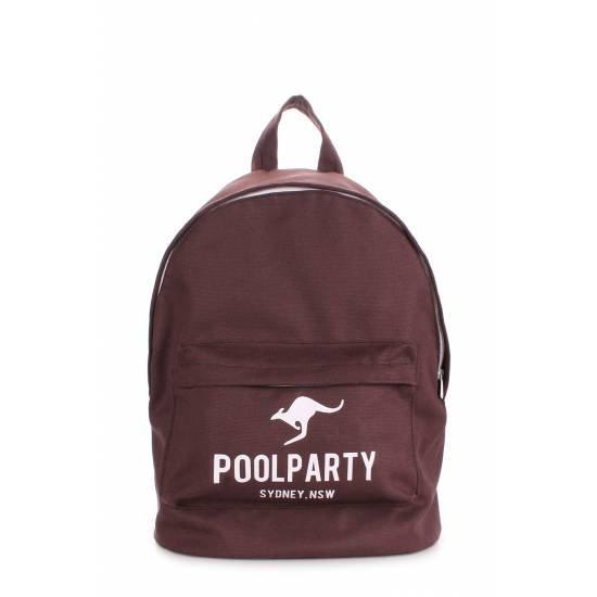 Молодежный рюкзак коричневого цвета