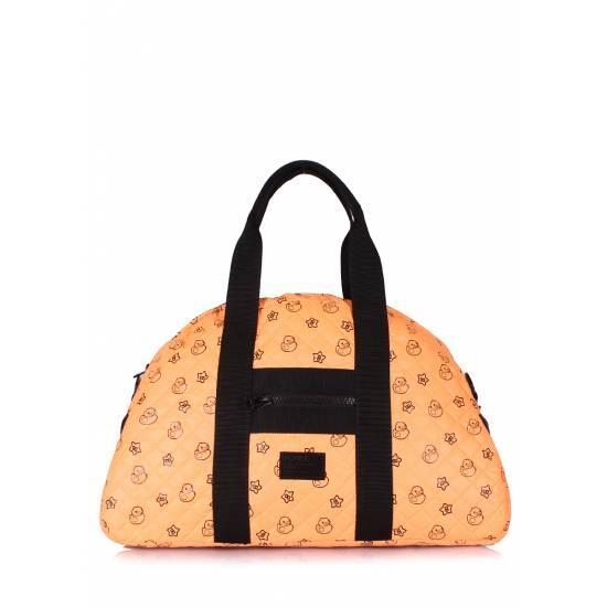 Стеганая сумка оранжевого цвета