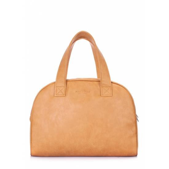 Коричневая сумка с одним отделением и внутренним карманом