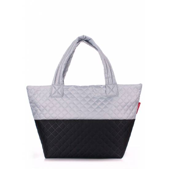 Стеганая сумка черно-белого цвета