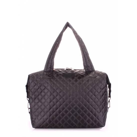 Стеганая сумка черного цвета