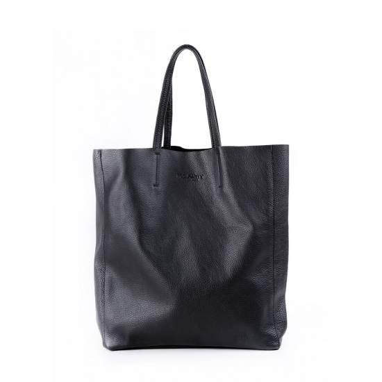 Кожаная сумка черного цвета
