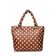 Дутая сумка коричневого цвета с принтом