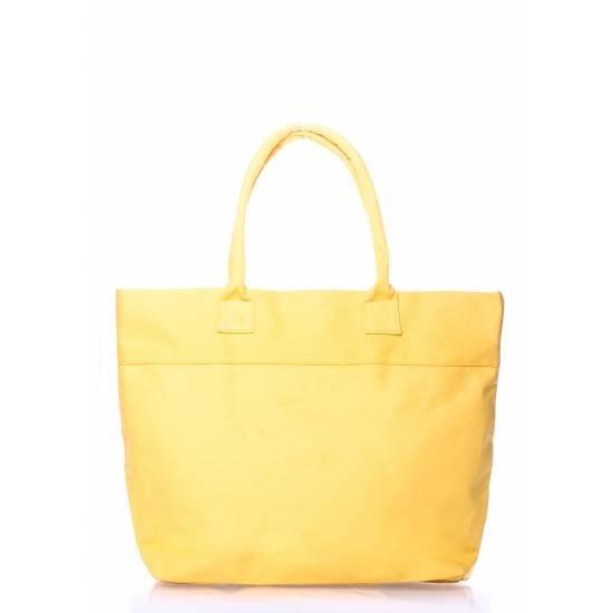 Коттоновая сумка желтого цвета