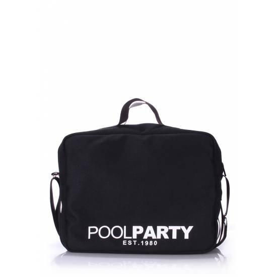 Черная сумка с ремнем на плечо