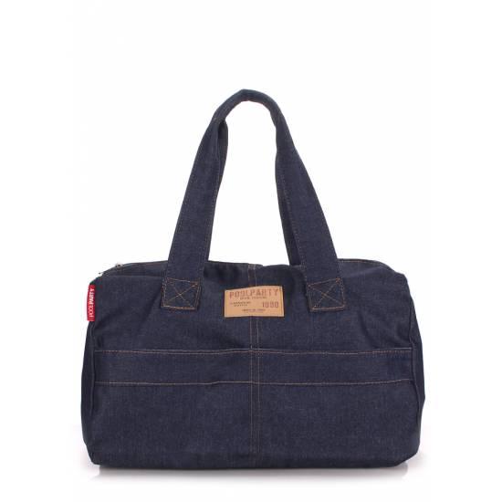 Коттоновая сумка синего цвета