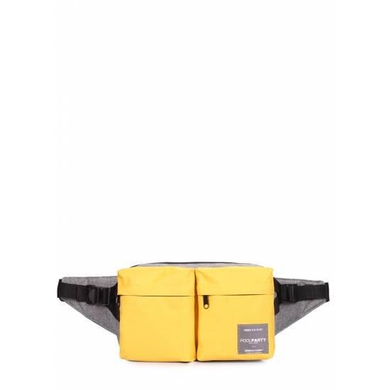 Желтая сумка на пояс