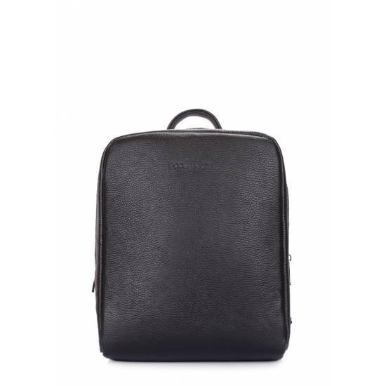 Кожаный женский рюкзак черного цвета