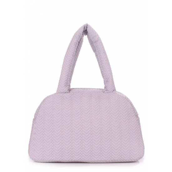 Стеганая сумка-саквояж серого цвета