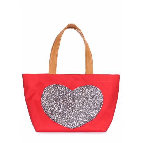 Красная сумка с глиттером