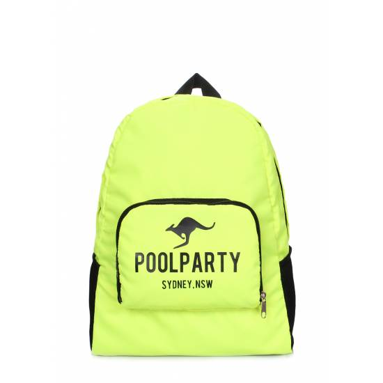 Складной рюкзак зеленого цвета