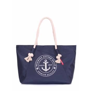 Синяя сумка с морским принтом