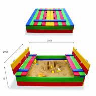 Детская песочница 30 размер 200х200см
