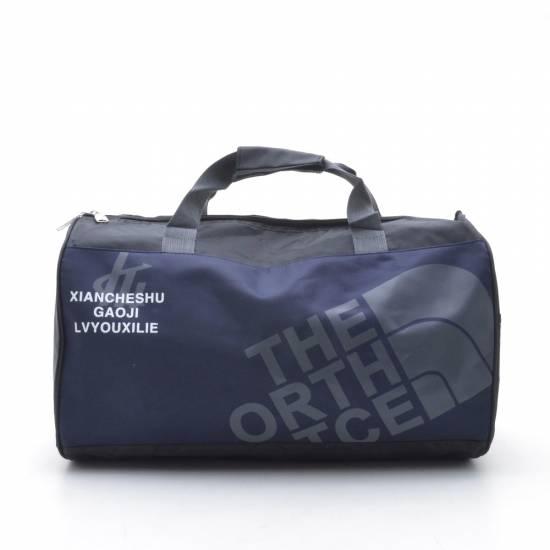 Дорожная сумка в черно-синих цветах