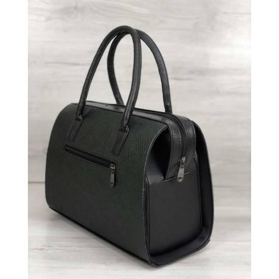 Каркасная женская сумка зеленого цвета